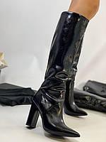 SAINT LAURENT Шкіряні чоботи Lou (репліка), фото 1