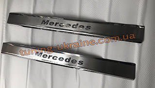 Хром накладки на пороги для Mercedes Citan 2013+