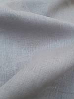 Льняная костюмная ткань серого цвета