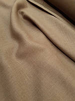 Льняная костюмная ткань коричного цвета, фото 1