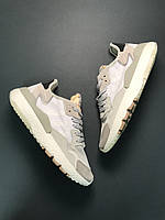 Мужские кроссовки Adidas Nite Jogger Grey White 41