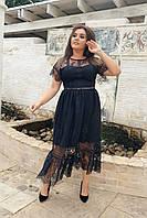 Брендовое кружевное платье 05025