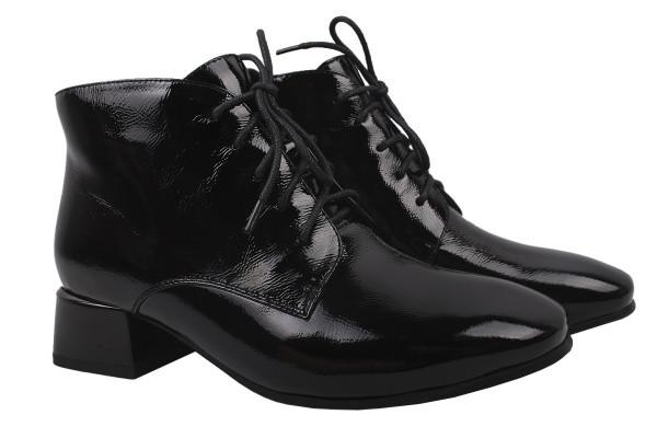 Ботинки Lady Marcia лаковая натуральная кожа, цвет черный