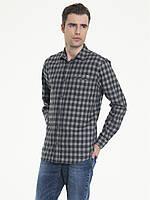 Рубашка с длинным рукавом мужская BIG STAR BS KORMIN SHIRT LS 977 GREY CHECK