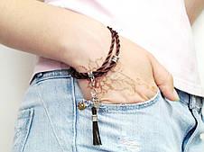 Браслет Коричневый шелк, фото 3
