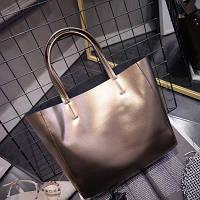 Большая женская сумка Mei&Ge шопер бронзовая