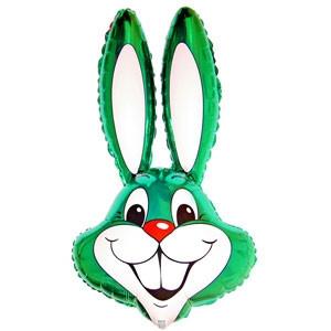 Фольгированный шар Кролик 90см х 58см Зеленый