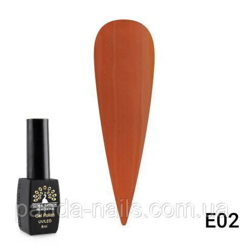 "Гель лак Global Fashion 8 ml ""LIME CANARY "" E02"