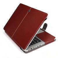 Чехол для Macbook Pro 15  BG из эко-кожи коричневый, фото 1