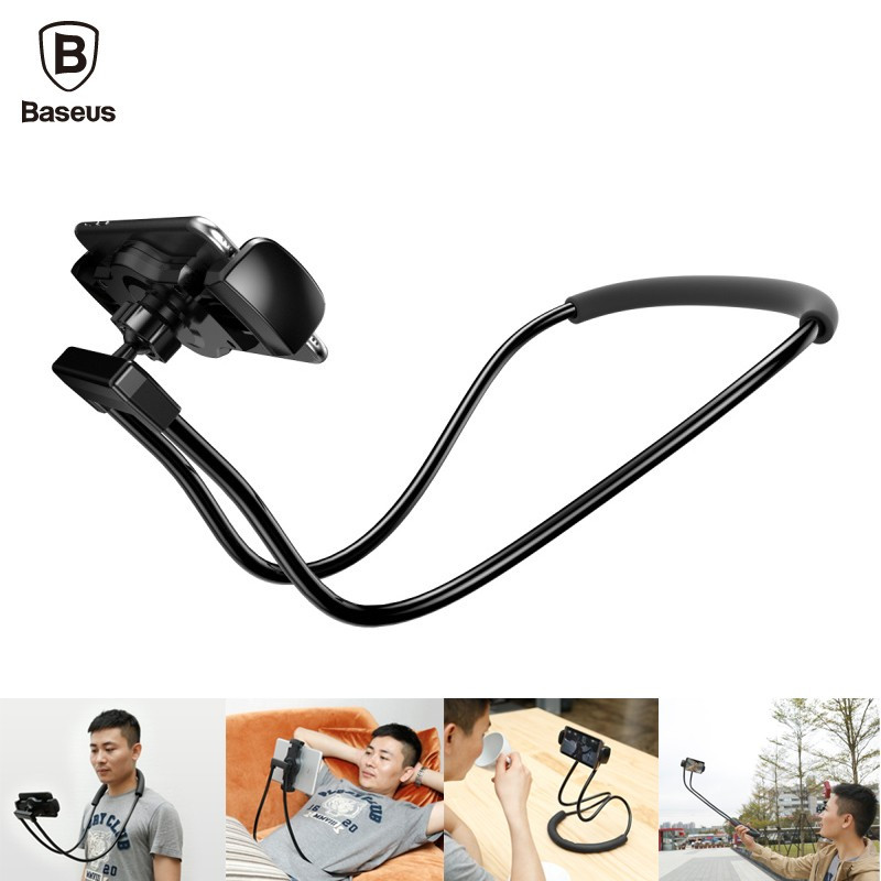 Распродажа! Гибкий держатель Baseus Necklace Lazy Bracket для смартфона планшета на шею 360 градусов