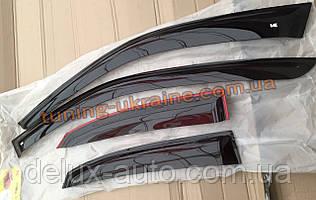 Ветровики VL дефлекторы окон на авто для PEUGEOT 407 sd 2004-2011