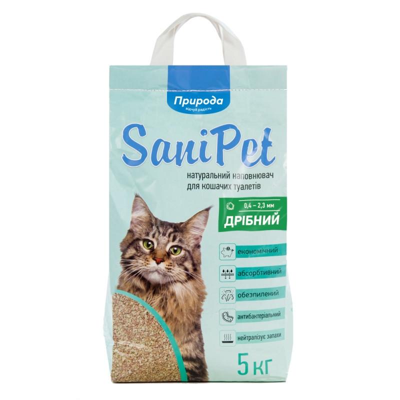 Наполнитель бентонитовый SANI PET мелкий 5 кг