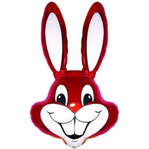Фольгированный шар Кролик 90см х 58см Малиновый