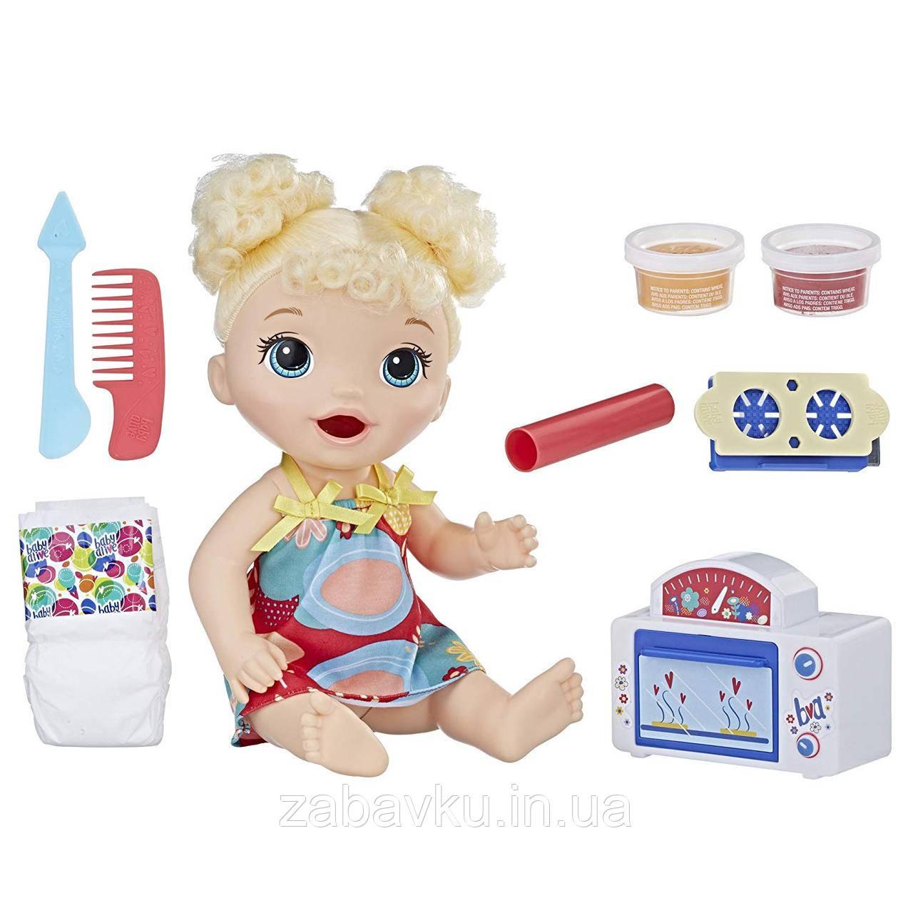 Бейбі Елайв Пупс з кухньою та їжею Baby Alive Snackin Treats Baby