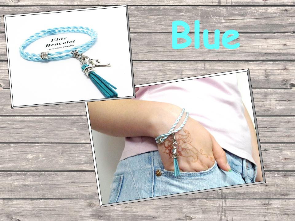 Браслет Блакитний шовк