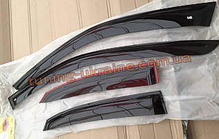 Ветровики VL дефлекторы окон на авто для TOYOTA Corolla Hb 5d 2001-2007