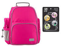 Свехпрочный рюкзак школьный ортопедический для девочки 6-12 лет Kite Smart розовый