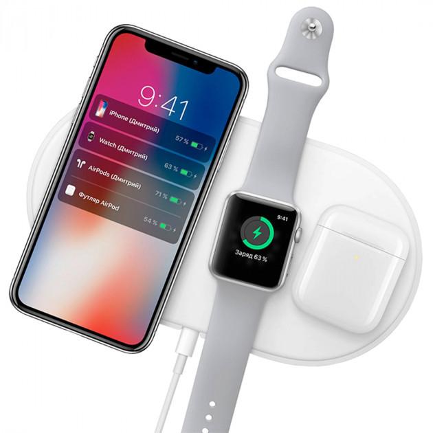 Беспроводное зарядное устройство AirPower Wireless Charger 3 в 1 с технологией QI для iPhone, Apple Watch, Air