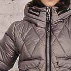Модная куртка для женщин на зиму с экопухом сезон 2020 - (модель кт-692), фото 3
