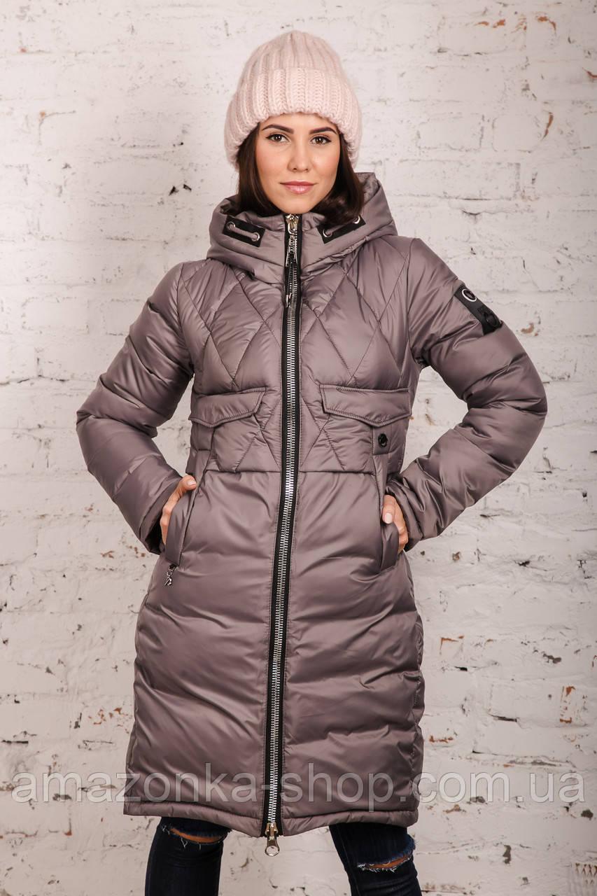 Модная куртка для женщин на зиму с экопухом сезон 2020 - (модель кт-692)