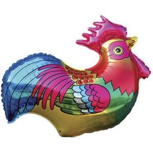 Фольгированный шар Петушок 70см х 74см Разноцветный