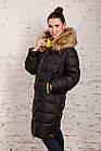 Куртка для женщин на зиму с экопухом сезон 2020 - (модель кт-697), фото 3