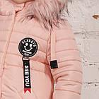 Зимнее пальто с рюкзачком для девочек - сезон 2019 - (модель КТ-554), фото 2