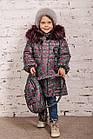Зимнее пальто с рюкзачком для девочек - сезон 2019 - (модель КТ-554), фото 7