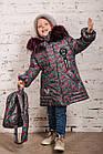 Зимнее пальто с рюкзачком для девочек - сезон 2019 - (модель КТ-554), фото 8
