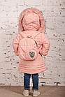 Зимнее пальто с рюкзачком для девочек - сезон 2019 - (модель КТ-554), фото 5
