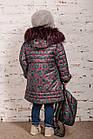 Зимнее пальто с рюкзачком для девочек - сезон 2019 - (модель КТ-554), фото 10