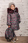 Зимнее пальто с рюкзачком для девочек - сезон 2019 - (модель КТ-554), фото 9