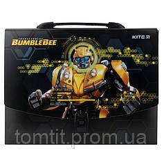 Портфель - коробка пластиковый «Transformers» на защелке, ТМ Kite