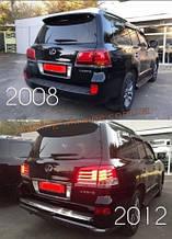 Комплект рестайлинга 2008-2012 на F-Sport 2012-2016гг для Lexus LX570  2012-2015 год