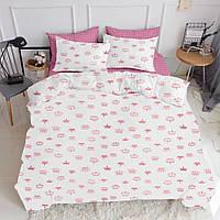 Комплект евро взрослого постельного белья CROWN ROSE ROSE