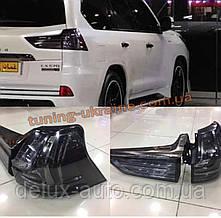 Задняя оптика Superior Black для Lexus LX570 2017+