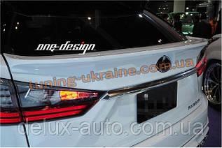 Спойлер под покраску для Lexus RX 2016+ гг