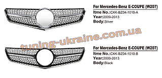 Передняя решетка Diamond на Mercedes E-klass coupe C207 2009-2013 гг