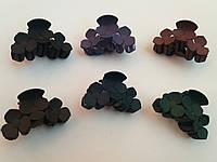 Крабик для волос цветок каучук