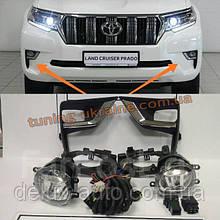 Противотуманки LED с кронтшейнами для Toyota LC 150 Prado 2017+