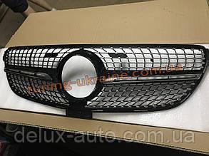 Тюнинг решетка радиатора Diamond с местом под камеру на Mercedes GLE coupe C292 2015+