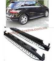 Боковые площадки Оригинальный дизайн на Mercedes ML klass W166 2011+