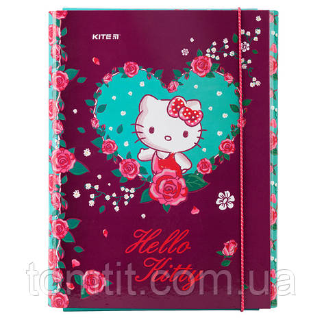 Папка для труда «Hello Kitty», картонная на резинке, ТМ Kite, фото 2