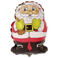 Фольгированный шар Санта 28см х 22см Красный