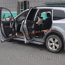 Боковые подножки Оригинал на Subaru Forester 2013+ гг.