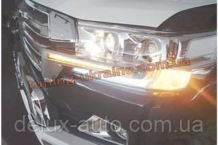 Комплект LED огней на фары и решетку для Toyota LC 200 2016+