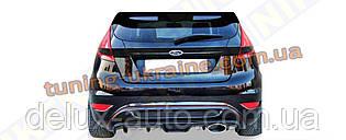Накладка на задний бампер на Ford Fiesta 2008-2017 гг