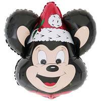 Фольгированный шар Мышонок новогодний 36см х 37см Черный
