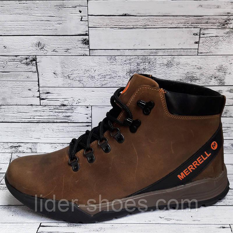 Мужские зимние ботинки коричневые