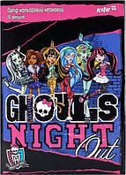 """Набор цветной бумаги неоновой""""Monster High"""" (10листов/5цветов)"""